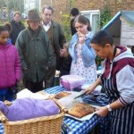Garden members made bread and cake to share