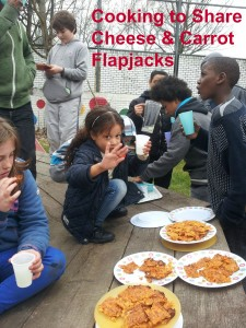 Cooking to Share - Cheese and carrot flapjacks