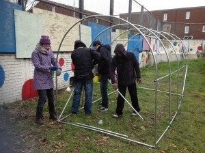 building the poly tunnel 2